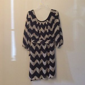 3/4 length patterned dress